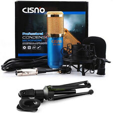 Condenser Sound Podcast Studio Microphone w Tripod Holder Fr PC Laptop Skype MSN