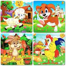 Puzzles for Kids Ages 3-5, Wooden Jigsaw Puzzles 20 Pieces Preschool Educational