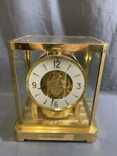 Vintage Jaeger Le Coultre Atmos Clock Brass Shelf Mantle 528-8