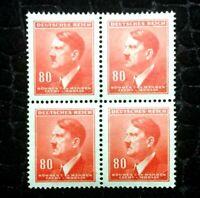 Rare Old Antique Authentic WWII German Unused Stamp Collection Lot - Orange