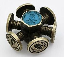 More details for victorian multi wheel motto intaglio letter seal 19th century