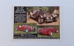 NG Cars Original Advert from 1996 - Ad Advertisement Sports Kit Car TF TC