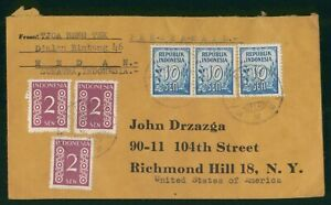 Mayfairstamps Indonesia 1950s Sumatra to US Richmond Hill NY Cover wwo88799