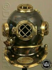 Antique Scuba Brass Diving Helmet Navy Mark V Vintage Christmas & Halloween Gift