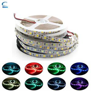 5/12/24V LED Strip Light Self Adhesive Flexible Tape TV Backlight Lamp White PCB