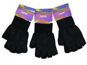 1 Mens Unisex Fingerless Magic Gripper Stretch Gloves One Size