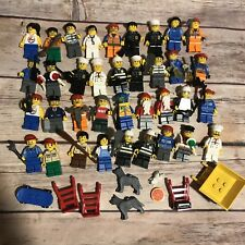 LEGO Minifigures Lot Of 36 City Check construction Doctor Pilot Farmer Jail Cops