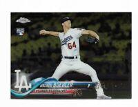 2018 Topps chrome baseball #71 Walker Buehler rookie card Los Angeles Dodgers RC