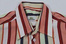 TE7001 Lacoste  Freizeithemd Kurzarm M weiß, rosa, rot, orange, dunkelblau, beig