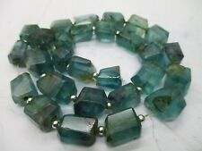 """Gem grade 16"""" Polished hand faceted  open blue  Fluorite faceted  Beads  F-67"""