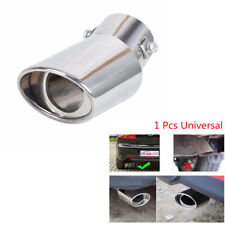 New Auto Car Chrome Stainless Rear Round Curved Exhaust Tail Pipe Muffler Tip