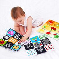 Juguetes bebé recién nacidos Libro tela suave 0-12 meses aprendiendo educativo