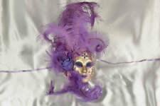 Púrpura y oro Veneciana Mascarada Máscara De Decoración De Pared-patio Fiore