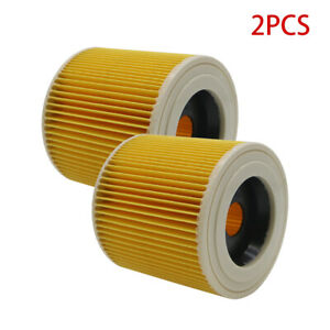 2Pcs Air Dust Filters For Karcher WD2250 WD3200 MV2 MV3 WD2 WD3 Vacuum Cleaners