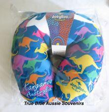 Australian Souvenir Blue Travel Pillow - Kangaroo & Australia