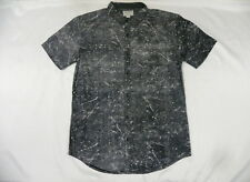 Billabong Men The Paint Black Shirt Short Sleeve Large