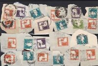palestine used stamps cancelled on piece  ref r12524