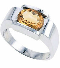 Oval Citrine Cocktail Sterling Silver Fine Rings
