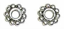6.5mm Antiqued Pewter Large Hole Daisy Spacers (50) Lead-Safe!