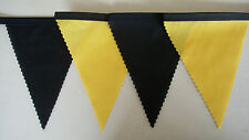 Fabric Bunting Yellow & black football Party Bedroom Decoration 2 mt or more
