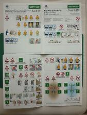 CIRRUS AIRLINES LUFTHANSA CITY LINE DASH 8-300 SAFETY CARD CONSIGNES DE SECURITE