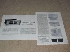 Pioneer SPEC-4 Amplifier Review, 2 pg, 1977, Test,Specs