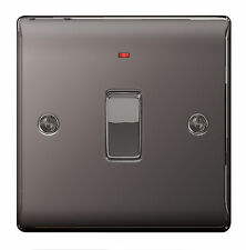 BG Nexus Metal NBN31 - BLACK NICKEL Chrome 20A 20 Amp DP Switch + Neon