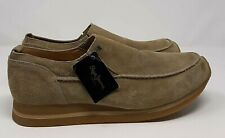 Mens Pepe Jeans Suede Shoes UK 12 Sand Loafer Trainer Casual Comfort Leather