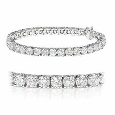 SPECIAL OFFER...!!! White Gold 4.00 Carat Round Diamond Tennis Bracelet