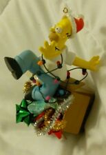 Carlton Cards Homer Simpson Christmas Ornament-D'oh! Tangled In Lights