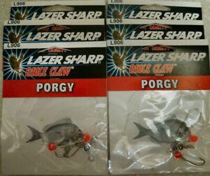 6 Eagle Claw Lazer Sharp Porgy Rigs L906