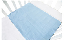 NEW BROLLY SHEETS COT PAD WITH WINGS BLUE MATTRESS PROTECTORS BEDDING & WRAPS