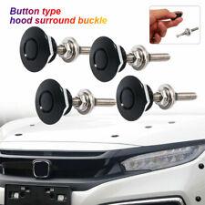 4pcs Universal Motorhaube Pin Push Button Auto Schnellverschluss Haubenschloss #