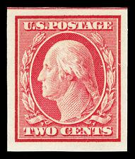 Scott 344 1909 2c Washington Imperforate Double Line Wmk Mint VF OG NH Cat $9