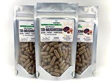 Chaga Reishi Cordyceps 50% Poly Triple Mushroom Immune System Blend 100 Capsules