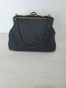 *Vintage* Ladies Oroton Glomesh 1950's Black/Gold Handbag