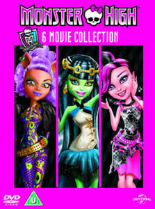 MONSTER HIGH - 6 MOVIE COLLECTION DVD [UK] NEW DVD