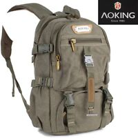 Rucksack Sport Reise Wander Schul Tasche Canvas Day Back Pack Outdoor AOKING !