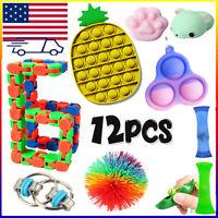 Fidget Toys Anti Stress Set Sensory Antistress Relief Figet Toys 12pcs/pack US