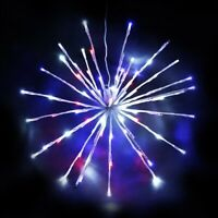 Red White & Blue Meteor Sparkler Spritzer Twinkling Christmas 4th Of July LED