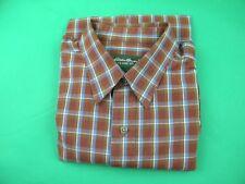 Eddie Bauer Men's Red/Blue Plaid Classic Fit Long Sleeve Shirt size Large
