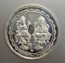 99.9 % PURE FINE SILVER GOD GANESH AND LAXMI COIN 20 GM INDIAN DIWALI SEASON 02