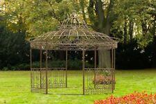 Luxus Pavillon Romantik V2 Rund 350 cm Metall Gazebo Pavillion Pergola Rankhilfe