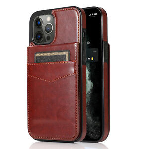 Magnetic Wallet Card Holder Stand Case For iPhone 12 11 Pro Max XS XR 8 7 6 Plus