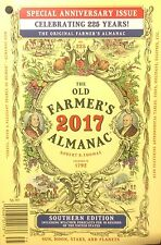 The Old Farmer's Almanac 2017 Southern Edition - 225th Anniversary Issue!  USA!!