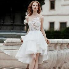 Organza Scoop Neck Sleeveless Wedding Dresses