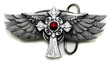 Winged Cross Belt Buckle Wings Heavy Gothic 3D Authentic Pagan Buckles Product