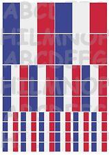 DRAPEAU FRENCH: 40 autocollants rèsistant à l'eau STICKERS vinyle FRANCE FLAGS