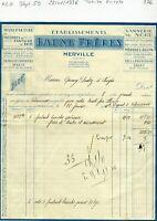 Dépt 59 - Merville - Petite Entête Manufacture Meubles Jouets en Bois 22/01/1936