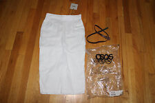 ASOS SKIRT WITH BROWN BELT  SIZE 2   WHITE   LINEN/VISCOSE/COTTON  NWT
